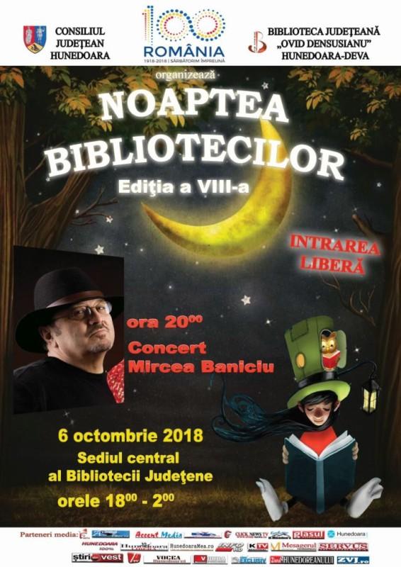 Afis Noaptea Bibliotecilor 2018