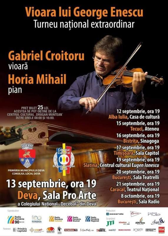 Afis Vioara lui Enescu