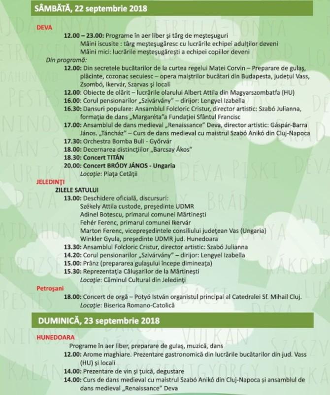 program zilele maghiare 2018 (1)