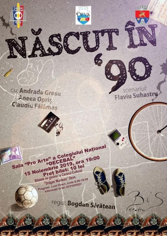 Afis Teatru Nascut in '90